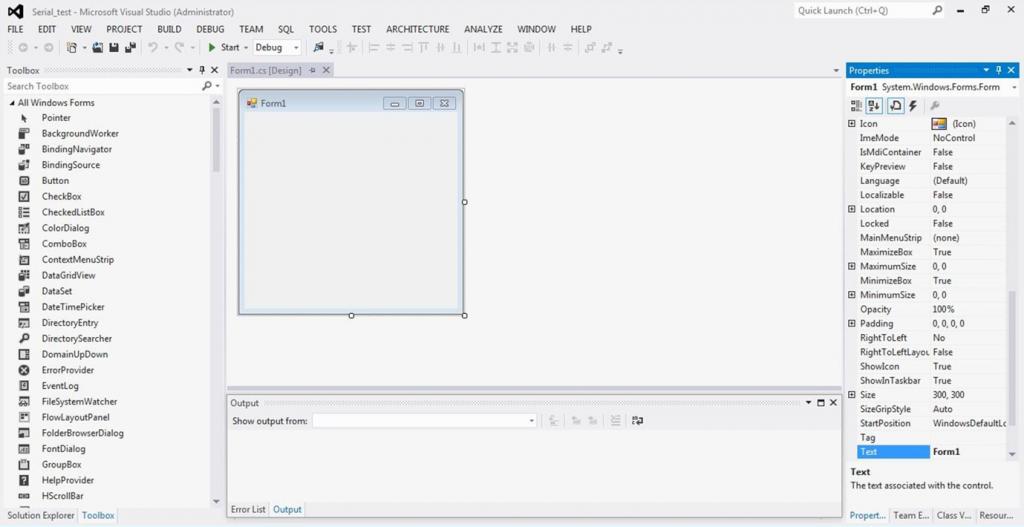 تصویر (3) یک پروژه ایجاد شده در محیط Visual Studio 2012