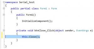 تصویر (10) نوشتن دستورات در متد فرآبند کلیک Button
